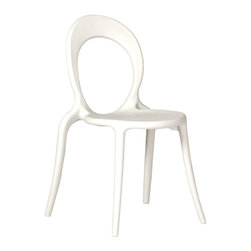 Eurostyle - Ital Modern Holly Side Chair in White [Set of 4] - Side Chair in White belongs to Holly Collection by Eurostyle At first glance you might think it��_�s alive! Slightly tapered legs and a unique, see-through back give the Holly chair a totally organic, futuristic feeling. It would look as comfortable on the moon as it does in any Earth bound venue. We have lift-off. Side Chair (4)