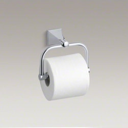KOHLER - KOHLER Memoirs(R) Stately toilet tissue holder - With rich detailing and crisp lines, the Memoirs Collection with Stately design offers refined elegance reminiscent of classical architecture. This convenient toilet tissue holder provides a stylish finishing touch to your bath or powder room.