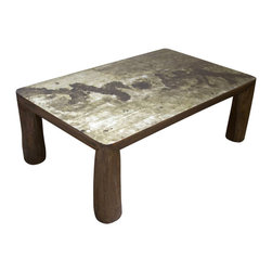 Madera Home - Melbourne Rustic Silver Live Edge Coffee Table - Our collection of coffee tables are built of beautiful elm wood reclaimed from buildings and furniture pieces that graced the eclectic Qing dynasty. Each piece is meticulously hand built and finished by time-honored craftsman utilizing over 120 different processes. 200 year old hand carvings are intricately placed in some, while the simplistic lines and natural wear age make others unique, and still others are hand painted with beautiful villages, kimono, and lotus scenes. A beautiful addition to the living room, no two pieces are alike.