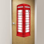 New for Back to School & Dorm Room Decor - london phone booth dry-erase message board new for back to school