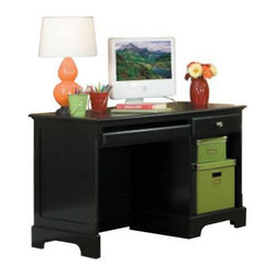 Homelegance - Homelegance Morelle Writing Desk in Black - The warmth of cottage living is invoked by the classic styling of the Morelle Collection. The collection is designed with many features perfect for today's casual lifestyle such as a low post bed with simple picture framing and round finials plus molded drawer fronts and satin nickel knobs on the case pieces. The ability to choose from twin, full, queen, California king and Eastern king bed sizes makes this group perfect for youth bedrooms, guest bedrooms or master bedrooms. Adding to the versatility are two distinct painted finishes, black and white. - 1356BK-15.  Product features: Morelle Collection; Black Finish; Dovetailed Drawers; Metal Glide; Dust Proof Panel. Product includes: Writing Desk (1). Writing Desk in Black belongs to Morelle Collection by Homelegance.