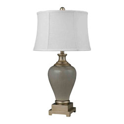 Dimond Lighting - Dimond Lighting D2317 Flagstaff Duck Egg Crackle Table Lamp - Dimond Lighting D2317 Flagstaff Duck Egg Crackle Table Lamp