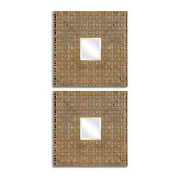 Uttermost - Adelina Square Mirrors Set of 2 - Adelina Square Mirrors Set of 2