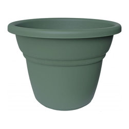 Bloem - Bloem 5in Milano Planter Living Green MP45042, 24 pack - Plastic planters offer affordable beauty without heavy weight or risk of breakage.
