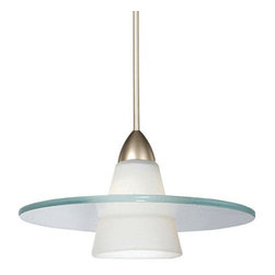 WAC Lighting - WAC Lighting MP-LED517 1 Light Down Lighting Quick Connect LED Pendant from the - WAC Lighting MP-LED517 Contemporary / Modern 1 Light Down Lighting Quick Connect LED Pendant from the Obo CollectionClear ring with white glass cone. �Features: