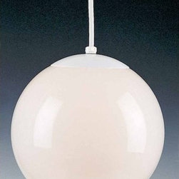 "Volume Lighting - Volume Lighting V1841 1 Light Foyer 8"" Height Pendant with Opal Glass Shade - One Light Foyer 8"" Height Pendant with Opal Glass ShadeAccent your home d�cor with this charming 1 light down light pendant featuring flawless opal glass.Features:"