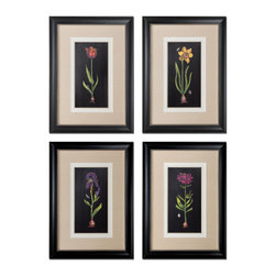 Uttermost - Uttermost Springtime Flowers 4 Wall Art Panels - 4 Wall Art Panels belongs to Grace Feyock Collection by Uttermost Prints Are Accented By White, Off-white And Sand Faux Linen Mats. Frames Are Black Satin Accented With Silver Inner Lips With A Heavy Gray Glaze. Wall Art (4)