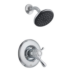 Delta - Leland TempAssure 17T Series Shower Trim - Delta T17T278 Leland TempAssure 17T Series Shower Trim with Volume Control and Single Function Showerhead in Chrome.