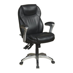Serta by True Innovations - Serta Ergo-Executive Office Chair in Black Bonded Leather - Serta by True Innovations - Office Chairs - 43676 - About This Product: