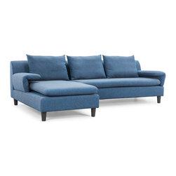 ZUO MODERN - Axiom Sofa Cowboy Blue - Axiom Sofa Cowboy Blue