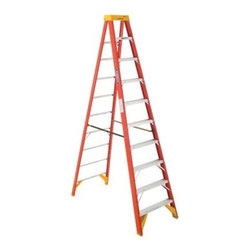 Werner 6210 10 ft. Fiberglass Step Ladder - The Werner 6210 10 ft. Fiberglass Step Ladder is ideal for use on commercial job sites as well as residential use. This ladder is made of durable fiberglass and features a 300-pound duty rating. Pinch-proof spreaders and an EDGE molded brace and foot pad combination makes it safe and stable on any job site. Traction Tred steps offer sure footing.About WernerWerner is an industry leader that has manufactured and distributed ladders and climbing equipment for over 60 years. Werner ladders are found on more trucks and job sites than all other brands combined. Each product offers a state-of-the-art design and manufacturing process, creating professional-grade products that are made to be utilized in the home as well as on the job site. Werner Co. products are built to meet or exceed all applicable American National Standards Institute (ANSI) and Occupational Safety and Health Administration (OSHA) code requirements.