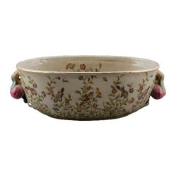 Oval Porcelain Basin Planter