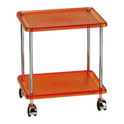 KohINoor - Mattia 5372KA Trolley in Orange - Mattia 5372KA, 15.4 x 12.0 x H 17.3, Trolley in Orange
