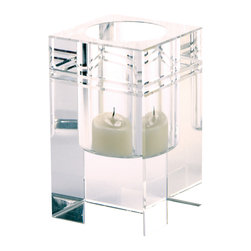 Lazy Susan - Square Crystal Collar Small Votive - Square Crystal Collar Small Votive