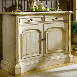 "Hooker Furniture - Summerglen 51"" Buffet - White glove, in-home delivery included!  This casual country buffet is crafted from hardwood solids and cherry veneers and handpainted.  Two drawers, two doors, levelers.  Drawers - Inside: 19 11/16"" w x 14 1/8"" d x 3 3/8"" h"