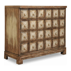 Two-Door Two-Drawer Blockfront Chest, Sand Dune