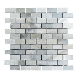 STONE TILE US - Stonetileus 20 pieces (20 Sq.ft) of Mosaic Silver 1x2 Polished - STONE TILE US - Mosaic Tile - Silver 1x2 Polished Specifications: Coverage: 1 Sq.ft size: 12x12 - 1 Sq.ft/Sheet Piece per Sheet : 66 pc(s) Tile size: 12x12 Sheet mount:Meshed back Stone tiles have natural variations therefore color may vary between tiles. This tile contains mixture of dark brown - Black - silver - light gray - and color movement expectation of low variation, The beauty of this natural stone Mosaic comes with the convenience of high quality and easy installation advantage. This tile has Polished surface, and this makes them ideal for walls, kitchen, bathroom, outdoor, Sheets are curved on all four sides, allowing them to fit together to produce a seamless surface area. Recommended use: Indoor - Outdoor - High traffic - Low traffic - Recommended areas: Silver 1x2 Polished tile ideal for floor, walls, kitchen, bathroom, Free shipping.. Set of 20 pieces, Covers 20 sq.ft.