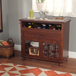 Simple Living - Simple Living Tivoli Wine Cabinet - The Tivoli Wine Cabinet offers plenty of storage space and makes a perfect addition to any dining area,living room or kitchen. This cabinet features tempered glass and holds up to eight wine bottles.