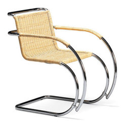 Mies van der Rohe Cantilever Cane Armchair | Bauhaus 2 Your House - In my opinion, Mr. Van der Rohe can do no wrong and this cane chair is another example. If you're a fan of the Bauhaus but still prefer more organic materials, consider this gem.