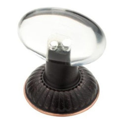 Liberty Hardware - Liberty Hardware P23118-472-CP 0 3 Inch Oval Knob - Vbc & Clear - Add the perfect decorative accent to your traditional styled kitchen or bathroom cabinetry with the Liberty 1-1/4 in. Palermo Acrylic Knob. With its classic design and combination Clear Acrylic with rich Bronze with Copper Highlights finish, this knob is sure to be enjoyed for years. This knob features a combination base made of acrylic and die-cast zinc for durability. Width - 3 Inch, Height - 5 Inch, Projection - 1 Inch, Finish - Vbc & Clear, Weight - 0.18 Lbs.