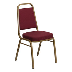 Flash Furniture - Hercules Series Trapezoidal Back Stacking Banquet Chair with Patterned Fabric - This is one tough chair that will withstand the rigors of time. With a frame that will hold in excess of 500 lbs., the Hercules Series Banquet Chair is one of the strongest banquet chairs on the market. You can make use of banquet chairs for many kinds of occasions. This banquet chair can be used in Church, Banquet Halls, Wedding Ceremonies, Training Rooms, Conference Meetings, Hotels, Conventions, Schools and any other gathering for practical seating arrangements. The banquet chair is also great for home usage from small to large gatherings. For any environment that you use a banquet chair it will put your guests at a greater comfort level with the padded seat and back. Another advantage is the stacking capability that allows you to move the chairs out of the way when not in use. With offerings of comfort and durability, you can be assured that you can enjoy this stacking banquet chair for years to come.