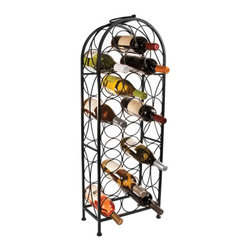 True Fabrications - Wine Rack 23 Bottle Large Arch Wine Rack - Sophisticated and efficient, this 23 bottle wine rack will add organization and style to your wine collection. Fits most standard sized bottles.