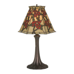 "Meyda Lighting - Meyda Lighting 81620 19""H Oriental Peony Accent Lamp - Meyda Lighting 81620 19""H Oriental Peony Accent Lamp"