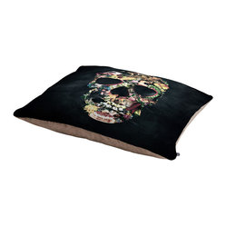 Ali Gulec Vintage Skull Pet Bed - Perfect for dogs, cats…heck, even a pig! With our cozy pet bed made of a fleece top and waterproof duck bottom, you're bound to have one happy animal catching some zzzz's in ultimate comfort.