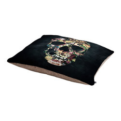 Ali Gulec Vintage Skull Pet Bed - Perfect for dogs, cats,heck, even a pig! With our cozy pet bed made of a fleece top and waterproof duck bottom, you're bound to have one happy animal catching some zzzz's in ultimate comfort.