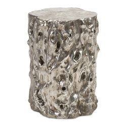 iMax - Daniel Silver Tree Stool - That one fabulous find got you stumped? Check out this silvered stool in a tree-like design that brings nature inside and one-ups her out.