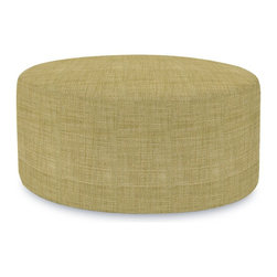 Howard Elliott - Coco Universal 36 Round Cover - Lounge in style on Coco 36 Rounds. The simple design makes these 36 Rounds great to use as side tables, ottomans, alternate seating and more. Velcro fasteners and tailored design make it so you would never know this piece is slipcovered. Cleaning and updating is a breeze, change your look on a whim with new covers!