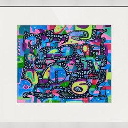 Kourosh Amini - Original Art Works By Kourosh Amini, Midnight Pasargade - Artist: Kourosh Amini