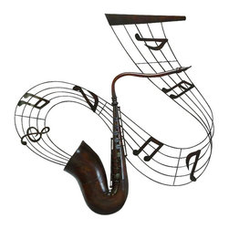 Benzara - Metal Music Wall Plaque Decor with Difference - METAL MUSIC WALL PLAOUE is an excellent anytime low priced wall decor upgrade option that is high in modern age decor fashion.