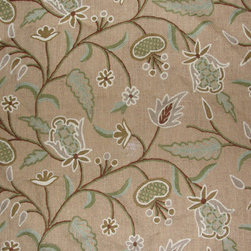 Crewel Fabric World by MDS - Crewel Fabric Dedar Brown Dyed Jute- Yardage - Inspiration: Inspired by a tall cedar (Cedrus deodara) native to the Himalaya Mountains and having drooping branches and dark bluish-green leaves, often with white, light green, or yellow new growth in cultivars. It is an important timber tree in India.
