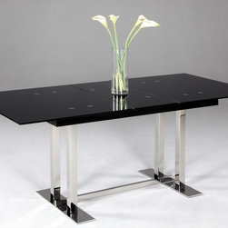 Chintaly Imports - Tyler Extendable Dining Table - Self Storage under Table top. Easily Assembled