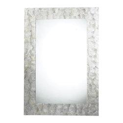 Sterling Industries - Tolka Quay Mirror in Mother of Pearl - Tolka Quay mirror in mother of pearl by Sterling Industries