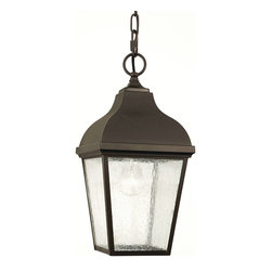 Murray Feiss - Murray Feiss Terrace Outdoor Chain Hung Lighting Fixture in Oil Rubbed Bronze - Shown in picture: Terrace Outdoor Lantern - Hanging in Oil Rubbed Bronze finish with Clear Seeded Glass