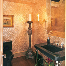 Traditional Powder Room by RSVP Design Services