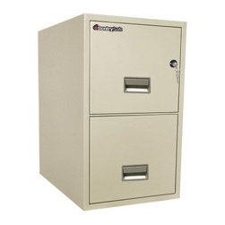 SentrySafe T2531 Water Resistant 2 Drawer Letter Vertical Filing Cabinet - The 25-inch deep SentrySafe T2531 Water Resistant 2 Drawer Letter Vertical Filing Cabinet is a brilliant way to protect your business records and other irreplaceable contents from all imaginable office disasters. Organization comes easy with this filing system, but it's the level of defense that is the true marvel. This heavy-duty metal cabinet is capable of protecting your papers from water and fire damage as well as being completely impact resistant. Two locking, storage drawers glide in and out with ease and accommodate all letter-sized documents. The overall dimensions of this unit are 16.6W x 25D x 27.6H inches. Available in your choice of black, light gray, and putty finish.Shipping OptionsDock-to-Dock Freight ServiceNo additional charge. Dock-to-dock includes commercial freight delivered to a commercial loading dock. Recipient is responsible for unloading product, final placement, unpack, and debris removal. Not available for residential deliveries.Curbside DeliveryDelivery personnel will present goods to ground level at rear of delivery vehicle. Recipient is responsible for final movement of goods, unpack, and debris removal. Curbside delivery will not bring the item up to a residence.Threshold ServiceDelivery personnel will remove goods from truck and place goods inside first exterior doorway, garage, or carport. Service includes up to four steps exterior to the first doorway. Customer is responsible for final product placement, unpack, and debris removal. Inside Delivery ServiceDelivery personnel will remove goods from truck, place goods in your room of choice, and complete unpack and debris removal. Includes lift gate service and stair carry of 0-4 internal and external steps. Does not include site preparation or protection.About SentrySafeFor over three generations, family-owned SentrySafe has been with you, protecting your valuables, providing you peace of mind. SentrySafe uses rigorous testing standards to ensure your items are protected from fire, water, and theft. They offer safes in a wide range of sizes and types, and continue to innovate protection technology. They are proud to make all of their products right here in the United States. SentrySafe is a name you can trust for all your irreplaceable items.