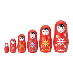 "The Original Toy Company - The Original Toy Company Kids Children Play Cutie Nesting Doll - Nest all your Matroyshka's inside one another Or display all six. These nesting dolls first appeared in Russia during the 19th Century. 6 piece Nesting Dolls- (Boxed set). Nesting Dolls range in height from 4.5"" to 1.37"" Ages 3 years plus."