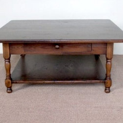 42 x 42 Square Oak Coffee Table - Made by http://www.ecustomfinishes.com
