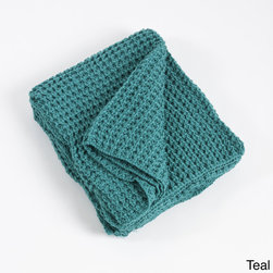 None - Knitted Design Throw Blanket - Keep yourself warm and enhance your home decor with this beautifully knitted throw blanket. Machine washable for easy care and repeated use,this cozy throw is available in your choice of navy blue,persimmon,shitake and teal finish.