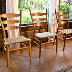 Classic Ladderback dinning chairs - The Classic Ladderback has been at the center of Brian's focus since he began producing handmade chairs 30 years ago. He started with the primitive form of greenwood chair making, and as his skills evolved, applied everything he learned to the ladderback. After more than a decade of development, we are proud to offer you comfort, stability and attention to detail in this award-winning design.