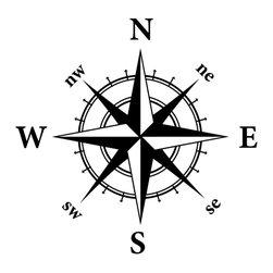 Dana Decals - Compass Nautical Design Wall Decal - Compass Nautical Adventure