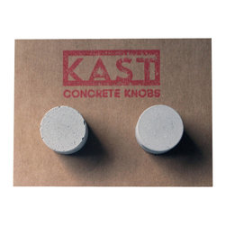 Kast Concrete Knobs - ALICE Concrete Cabinet Knob, Light Grey - - Concrete Knob