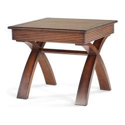 Magnussen - Magnussen Bali Tables Square End Table - Magnussen - End Tables - 48207