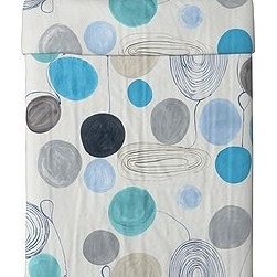 Gunnel Sahlin - EIVOR FÄRGA Duvet cover and pillowcase(s) - Duvet cover and pillowcase(s), white, blue