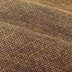 Crossover Upholstery Fabric in Mocha - Crossover Upholstery Fabric in Mocha is a rich tan and black patterned weave ideal for upholstering projects or bedding and pillows. This small-scale, subtle pattern adds dimension without distracting the eye. Allow the bold golden tan shade of this discounted fabric to elevate your interior design. American made with 60% rayon and 40% cotton. Cleaning Code: S. Width: 54″