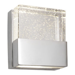 ET2 Lighting - ET2 Lighting E22731-89PC Polished Chrome Fizz Wall Sconce - 1 Bulb, Bulb Type: 50 Watt G9 Xenon, Bulb Included