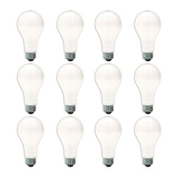 GE - GE '10429' 150-watt A21 Soft White Lightbulbs (Pack of 12) - GE soft white 150-watt bulbs provide warm, pleasing everyday light without harsh glares and shadows. Use general purpose E26 soft white bulbs in common household fixtures like table lamps, floor lamps, enclosed ceiling fixtures and bare lamp sockets.